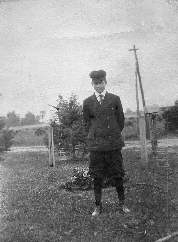Boy wearing knickers