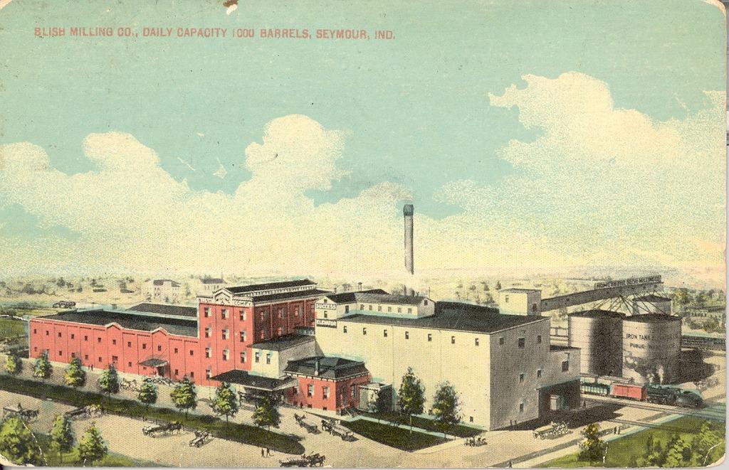 Blish Mill 1913 daily capacity 1000 barrels, Seymour, In