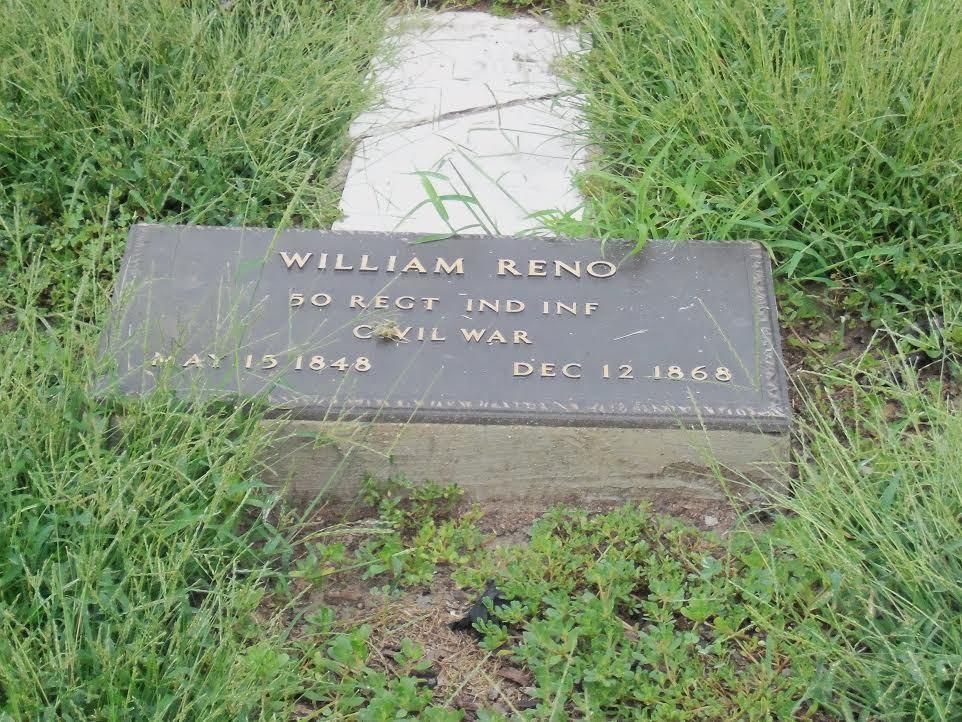 William Reno's gravestone