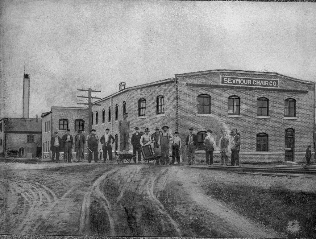Seymour Chair Co., corner of 9th and Shields Ave. across from the old city cemetery, early 1900's,