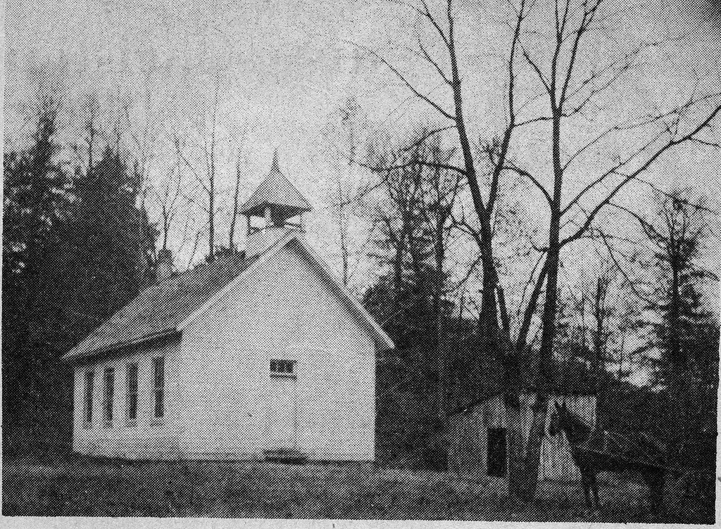Starve Hollow School, Vallonia, IN, (Picture from Marion C. Reinbold from Ralph Cloyd whose mother taught at the school). - from Doris Lee, 4 1/2 x 3 1/2, bw