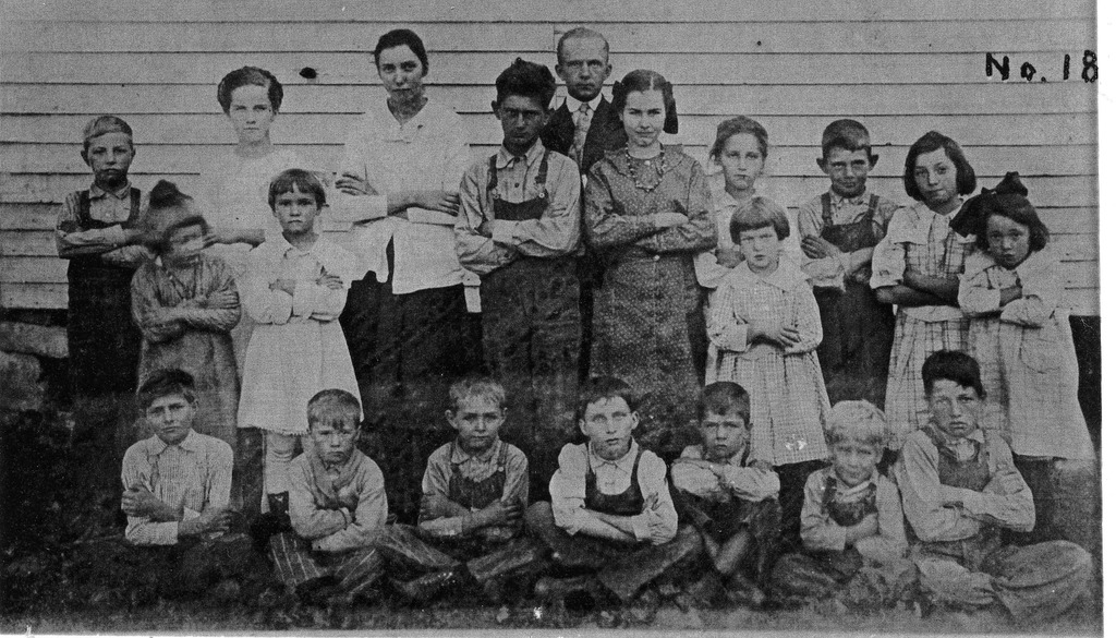 Freetown School, #18 is written on the picture - from Winfred (Bud) Cornett, bw 6.82x3.90