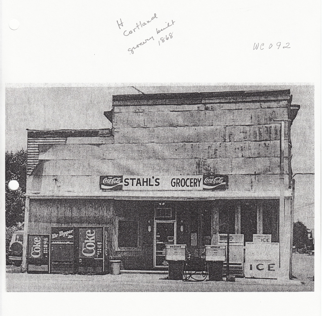 Cortland Grocery built in 1868