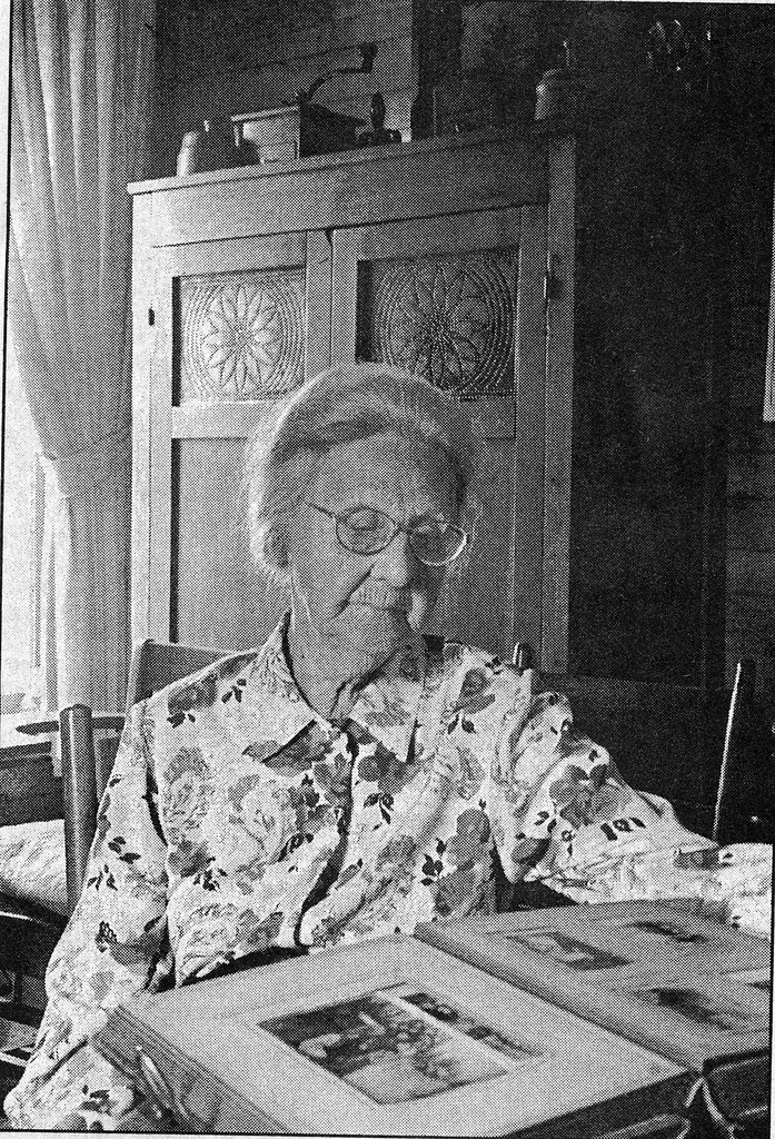 Alice Smith, retired teacher, Houston, picture from the 7/24/97 Banner. - from Doris Lee, bw 4.22x6.20