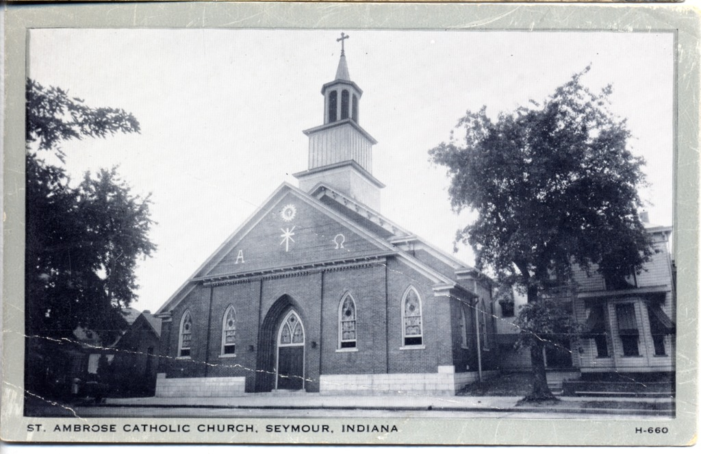 St. Ambrose Catholic Church and parsonage in Seymour - from Jim Gerth