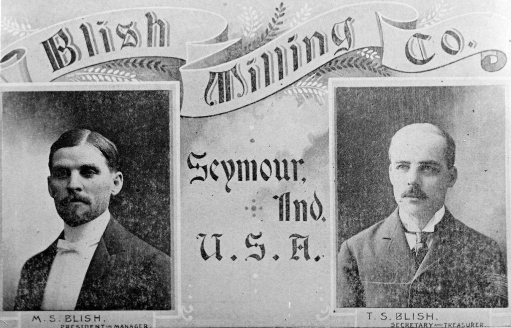 Blish Milling Co., Seymour, Indiana. M. S. Blish president & manager. T. S. Blish Secretary & treasurer