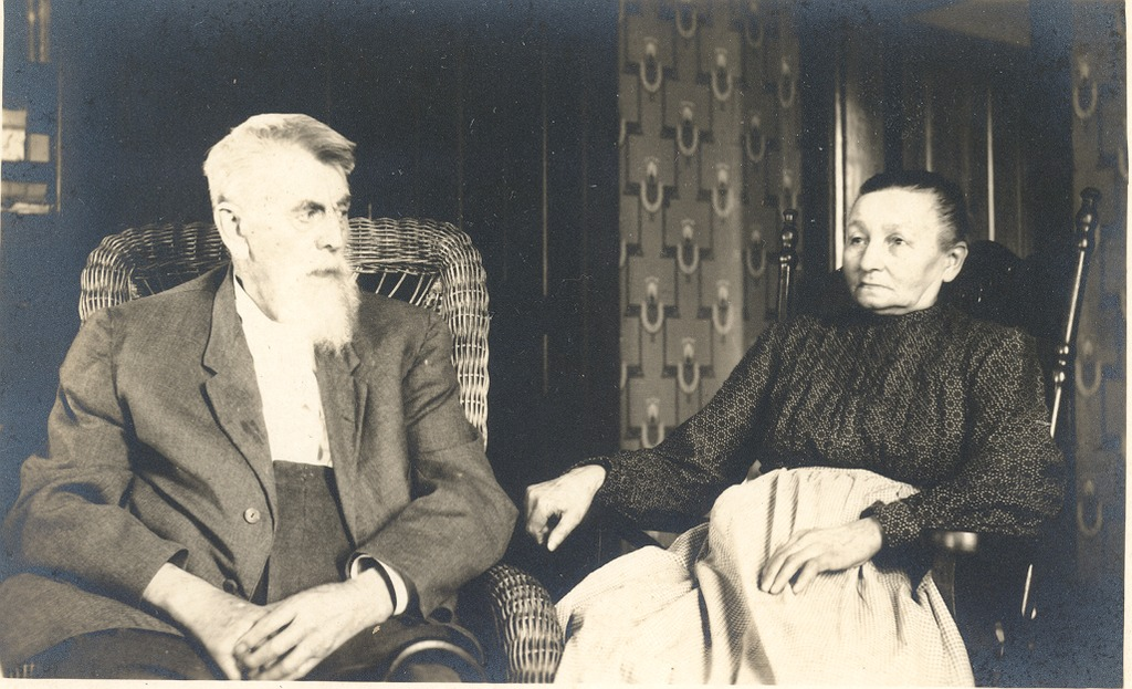 Post card with no information on back of a man and woman