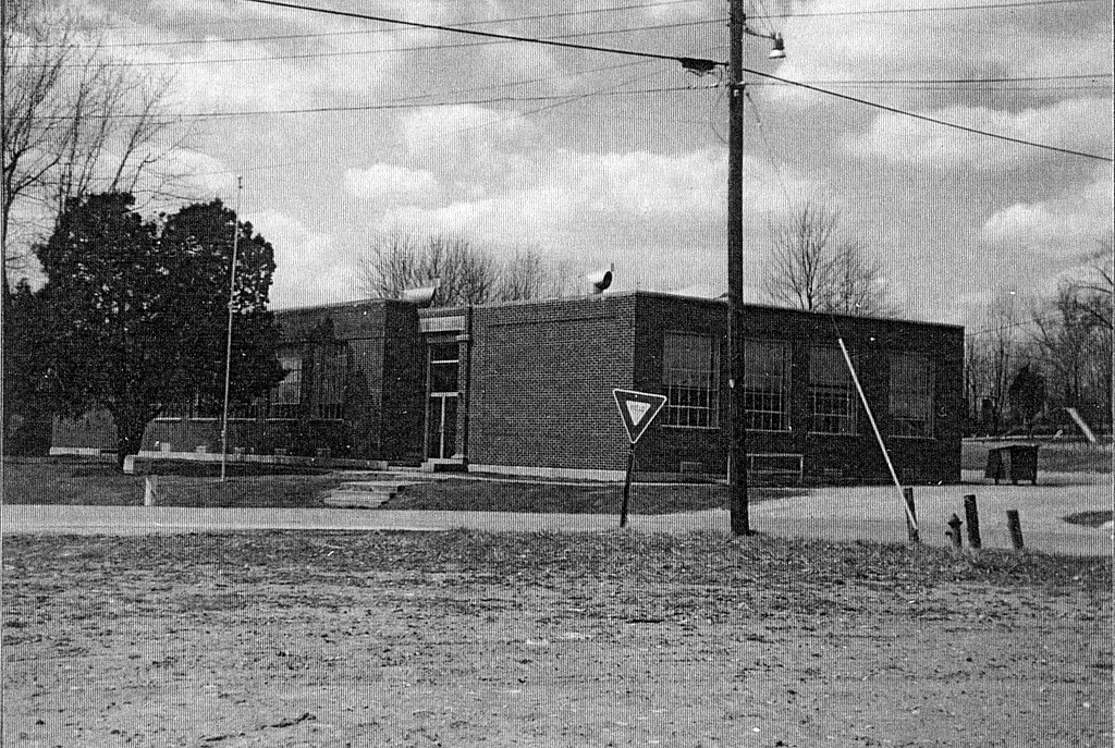 Freetown School building, Freetown, IN. - from Winfred (Bud) Cornett, bw 4.96x3.33