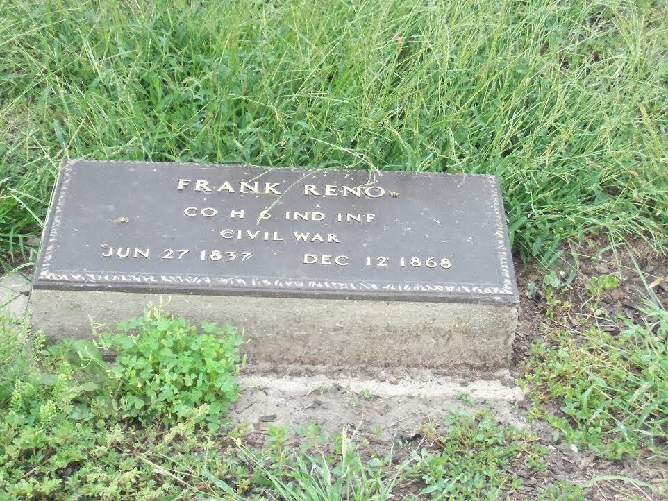 Frank Reno's grave stone