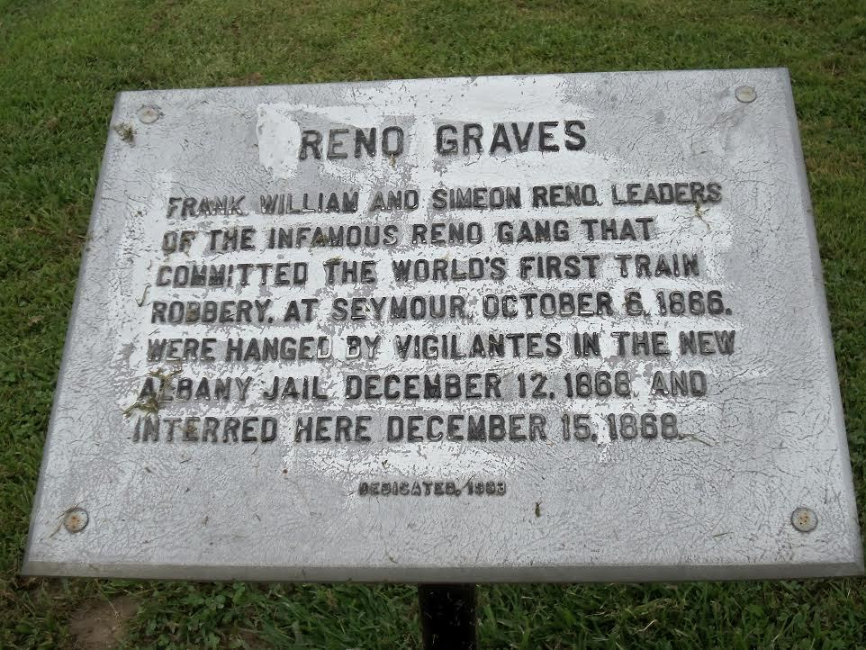 Plaque next to the path to the Reno graves in the Old City Cemtery