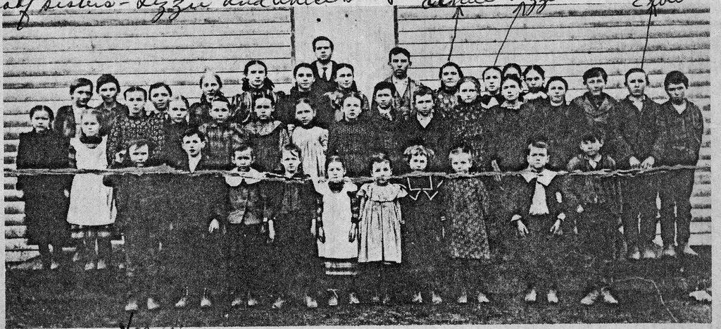 Mt. Sidney School, 1894, - from Doris Lee, 7 1/4 x 3 1/2, bw