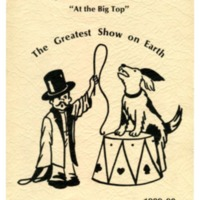 """Jackson School """"At the Big Top"""" The Greatest Show on Earth 1989-90"""