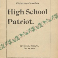 The High School Patriot. Christmas Number 1903