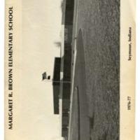 Margaret R. Brown Elementary School Yearbook 1976-1977