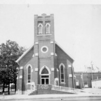 St. Paul United Church of Christ, owned by Elizabeth Rebber, Seymour - from Elaine Allman, 4.25x3.25 bw