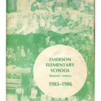 Emerson Elementary Yearbook 1985-1986