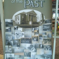 Banner showing major events in the history of the library