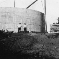 Indiana-American Water Co. Inc., Seymour District, P. O. Box 253, Seymour, IN. Water storage tank  - from Elaine Allman, bw 6.56 x 4.20