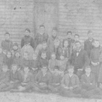 School class, Jackson Co., late 1800s. - from Beverly Weddell, bw 4.55x 7.32
