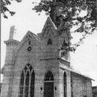 First Presbyterian Church of Crothersville, established in 1885 - from Jeanette Stout, 5 x 4, bw