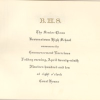 Brownstown High School Commencement Program 1910