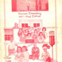 Emerson Elementary 1927 - Final Edition 1987-1988
