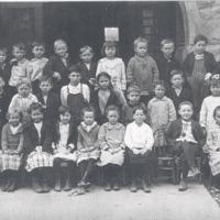Grade School at Medora. - from Paul Carr, bw 9.95x6.35
