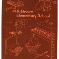 Margaret R. Brown Elementary School Yearbook 1983-1984