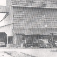 Bundy Bros. & Sons Feed Mill, built late 1920's, destroyed by fire in 1963.