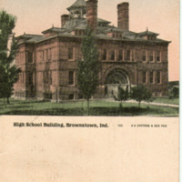 High School Building, Brownstown, Ind.
