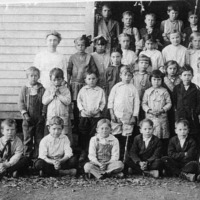 Freetown School. - from Winfred (Bud) Cornett, bw 4.44x3.37
