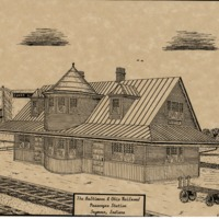 B and O RR Passenger Station Seymour - from Jackson County Historical Society