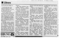 New library addition article in the Tribune, August 2005