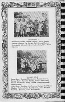 Sunday School Classes 1 and 2, Vallonia Methodist Church Messenger of 1950. - from Fort Vallonia Museum, 5.29x8.25 bw