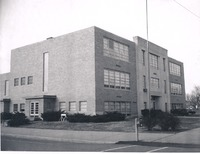 Immanuel Lutheran School on South Chestnut Street - from Seymour Tribune,  bw 3.75x2.89
