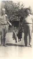 Harlen Montgomery, DeGraf Billings, 1930s fishing trip - From Polly Schneck, bw 5.25 x 3.25