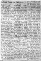 Newspaper article on New Albany hanging - from Jackson County Public Library
