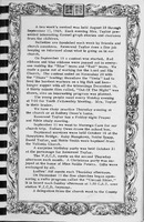 Calendar of Events, Vallonia Methodist Church Messenger of 1950. - from Fort Vallonia Museum, 5.36x8.25 bw