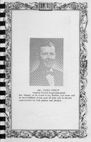 Mr. Keith Bundy - Sunday School Superintendent. Vallonia Methodist Church Messenger of 1950. - from Fort Vallonia Museum, 5.29x8.19 bw