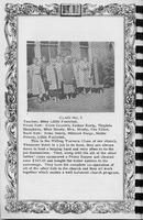 Sunday School Class 5, Vallonia Methodist Church Messenger of 1950. - from Fort Vallonia Museum, 5.33x8.23 bw