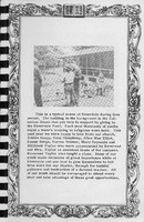 Riverdale scene and story, Vallonia Methodist Church Messenger of 1950. - from Fort Vallonia Museum, 5.29x8.17 bw